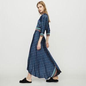 NWOT MAJE REANNE PRINTED CREPE DRESS